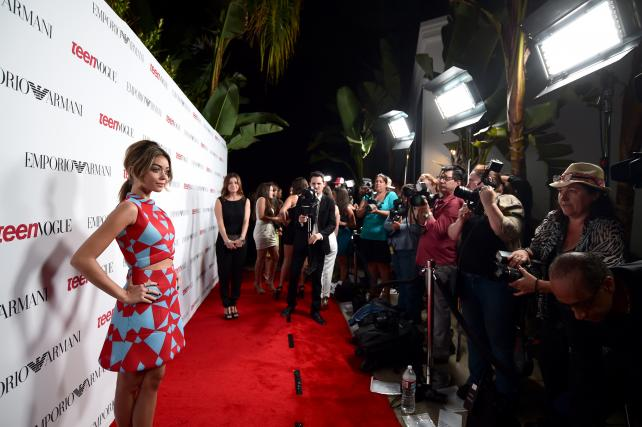 'Modern Family' actress Sarah Hyland at Teen Vogue's Young Hollywood Party.