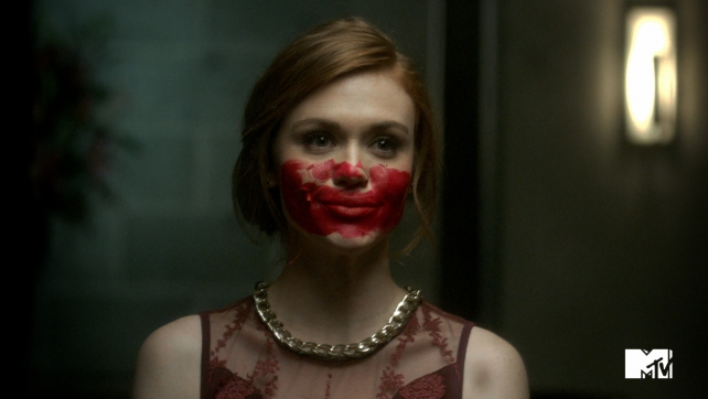 Holland Roden, who plays Lydia Martin in MTV's 'Teen Wolf,' in a Viacom Echo campaign for the film 'Oculus.'
