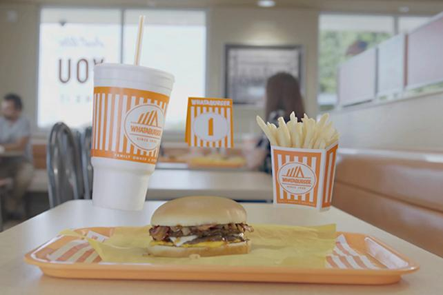 'The Force is strong with the Sweet & Spicy Bacon Burger,' a Whataburger social-media post by McGarrah Jessee.