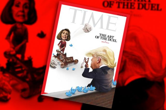 Trump and Pelosi battle it out on Time's latest cover