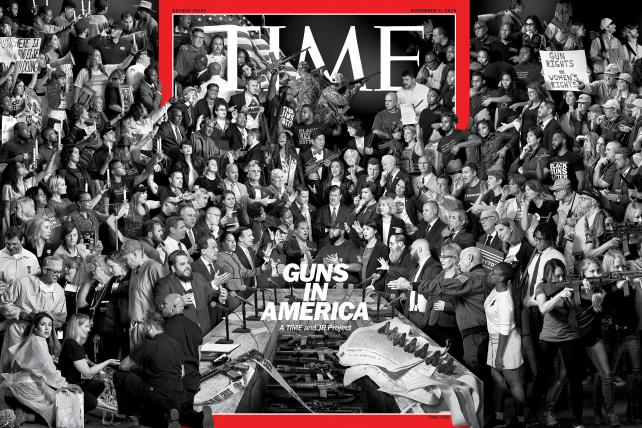 Time's 'Guns in America' cover by the artist JR was months in the making