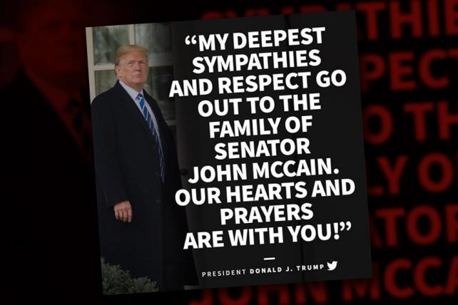 Trump's Instagram tribute to McCain features a photo of ... Trump
