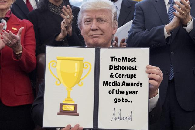 Awards Season Is Here and Trump Wants in With His 'Dishonest & Corrupt Media Awards'