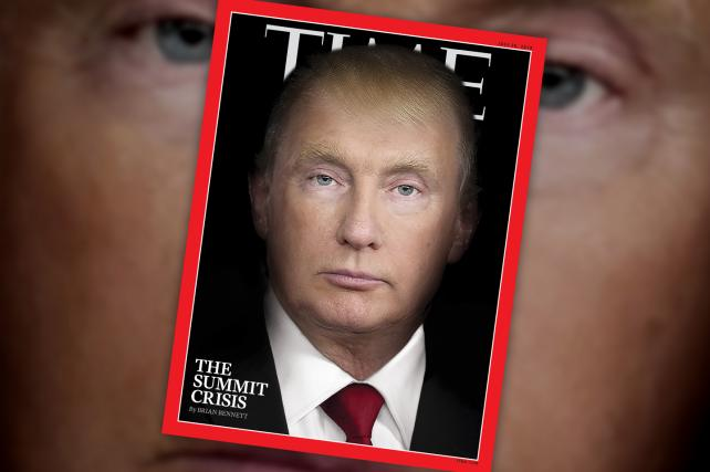 Vladimir Trump (or Donald Putin?) lands the cover of Time