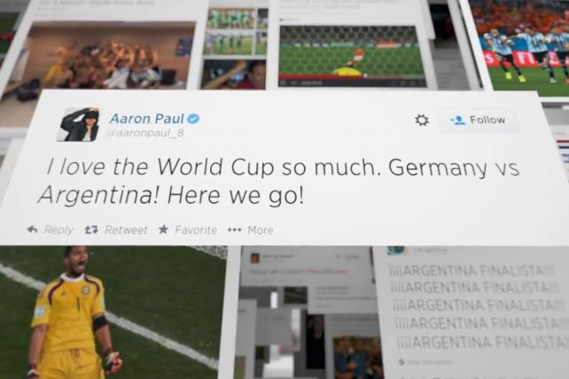 World Cup matches inspired 672 million tweets.