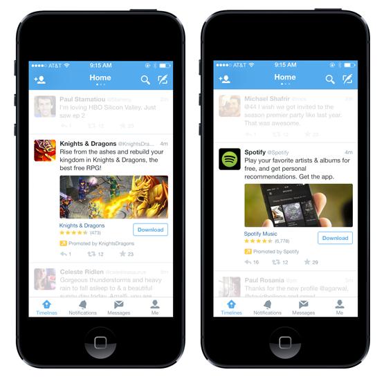 Twitter's app install ads