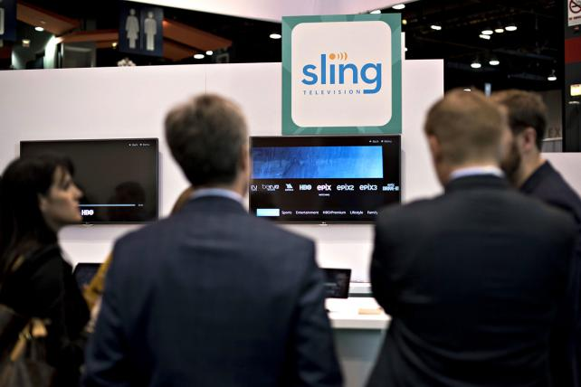 The Sling Television booth at INTX: The Internet & Television Expo in Chicago.