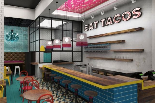 U.S. Taco Co. interior rendering