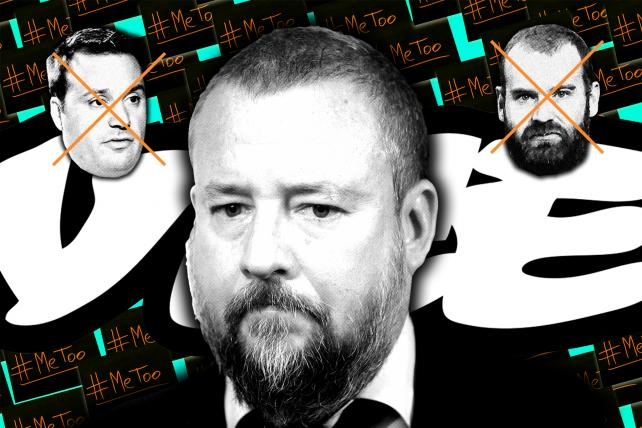 (From l.) Vice's Mike Germano, Shane Smith, Andrew Creighton