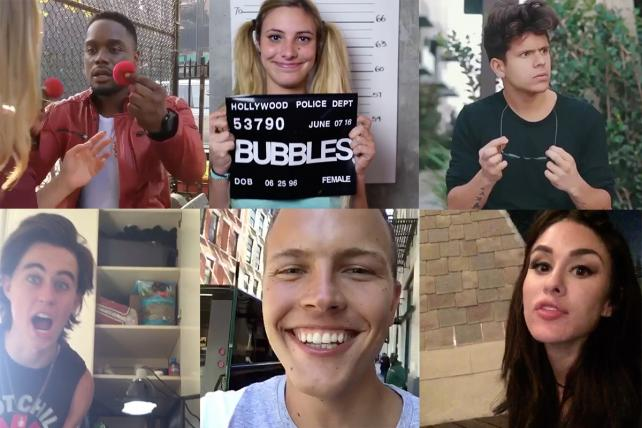 Vine stars Klarity, Lele Pons, Rudy Mancuso, Nash Grier, Jerome Jaree and Brittany Furlan.