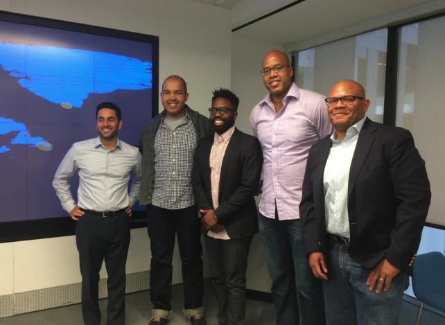 From left to right: Shiv Singh, Visa, Samuel Agboola, Flag, Rodney Williams, Lisnr, Ronald Mitchell, Virgil, Eric Allen, Lisnr
