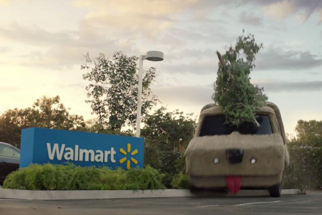 Walmart enlists classic movie cars to tout online Grocery Pickup