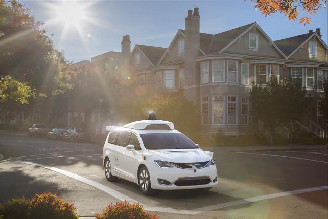 Waymo's fully self-driving Chrysler Pacifica Hybrid minivan.