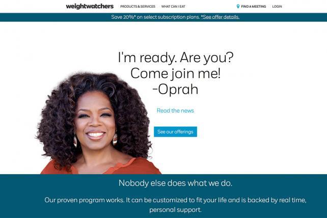 Oprah Fronts Weight Watchers Web Site