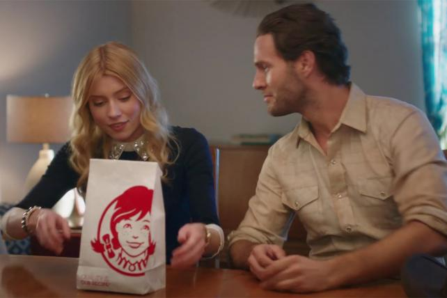 A still from a recent Wendy's campaign created by VML.