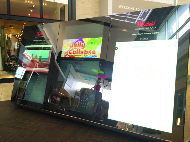 A digital storefront from Westfield Labs
