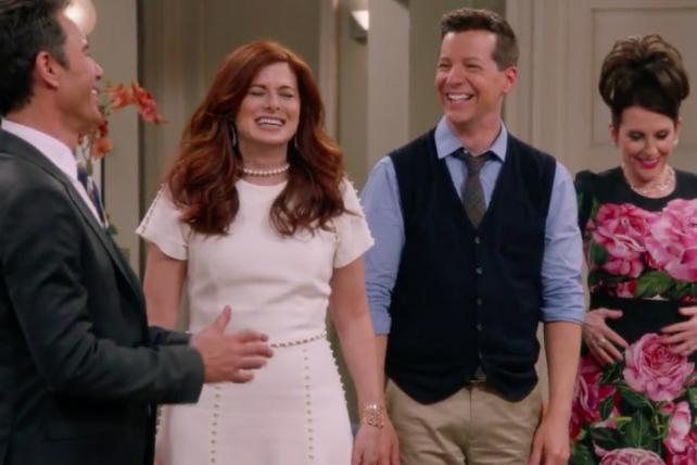 A scene from an NBC teaser video for the return of 'Will & Grace.'