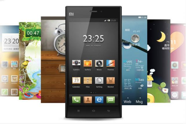 Smartphones from China's Xiaomi