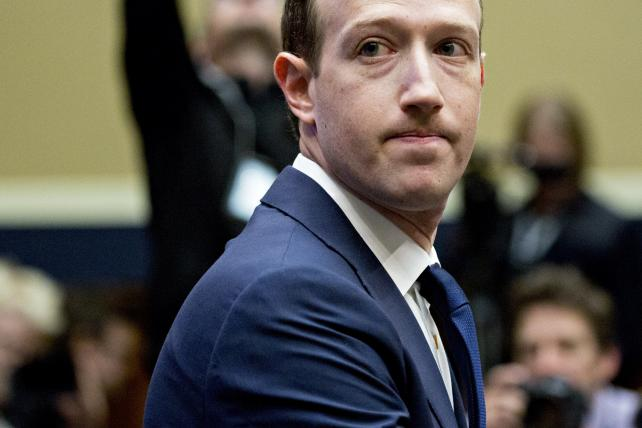 Mark Zuckerberg, Facebook CEO, at a House of Representatives committee hearing in April.