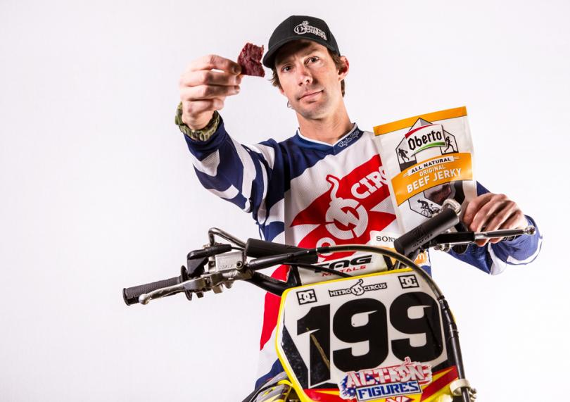 Travis Pastrana for Oberto Beef Jerky.