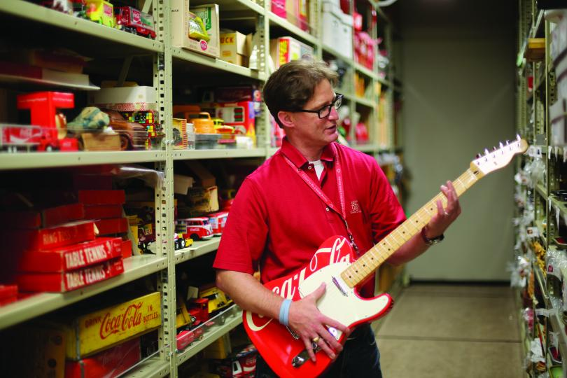 Coke's Ted Ryan is playing hot licks.