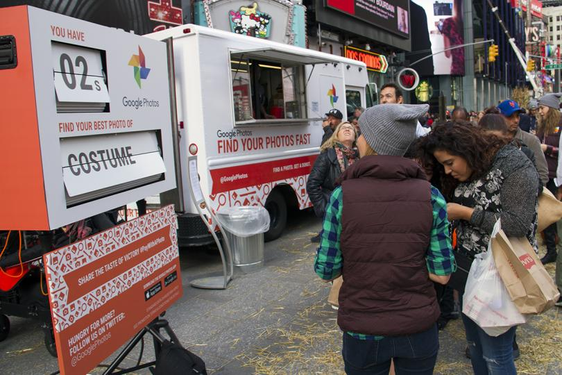 Google's Food Truck, where visitors had to find a specific photo in their phones in less than 20 seconds in exchange for a donut