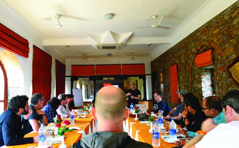 A meeting of Grey's global creative council at Neemrana Fort-Palace near Delhi, India, earlier this year.