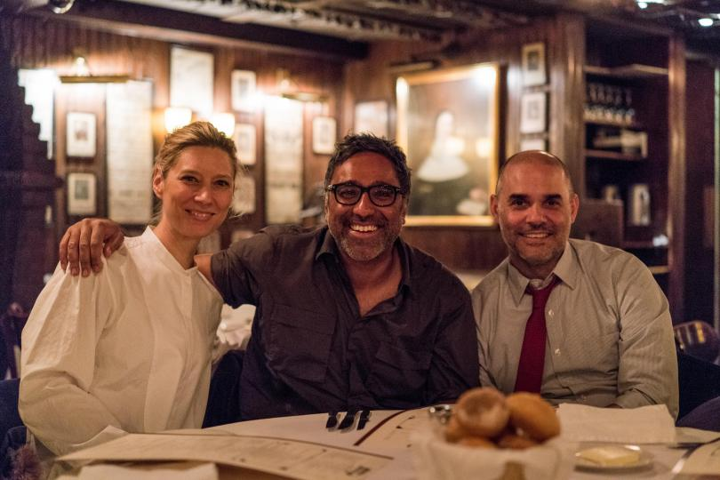 It All Began Here: Barton F. Graf's Chief Strategy Officer Laura Janness, Executive Creative Director Jeff Benjamin and Founder/CCO Gerry Graf at Keens Steakhouse in NYC