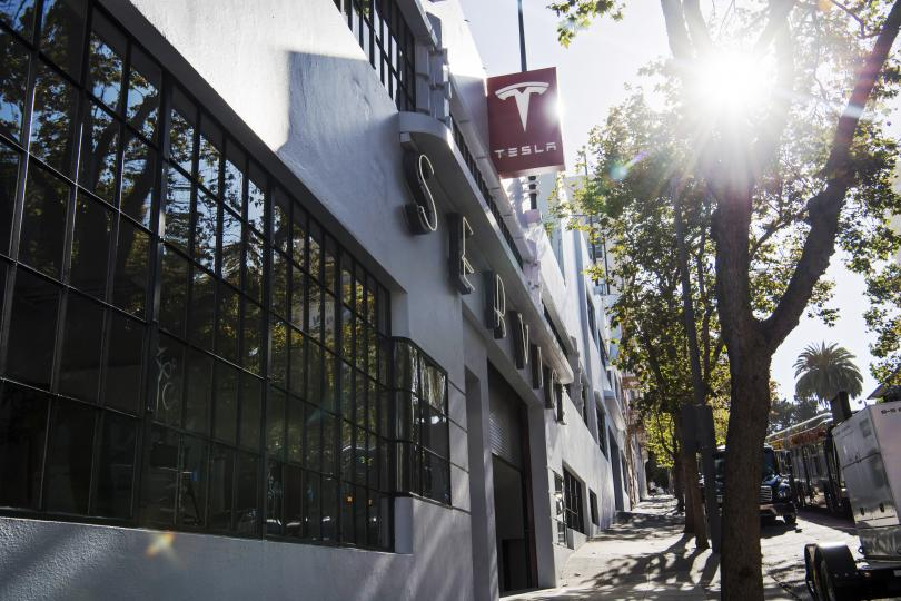 Tesla's new San Francisco flagship store opened in an old Chevrolet showroom built in 1937.