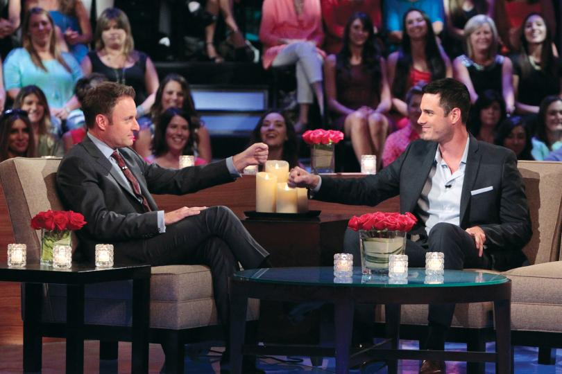 'Bachelor' host Chris Harrison with Ben Higgins, star of the show's upcoming 20th season.