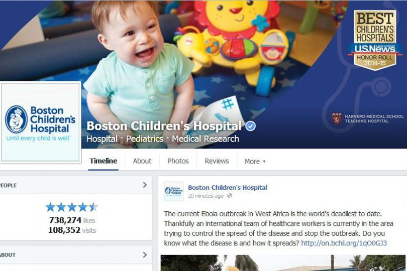 Boston Children's Hospital's Facebook page