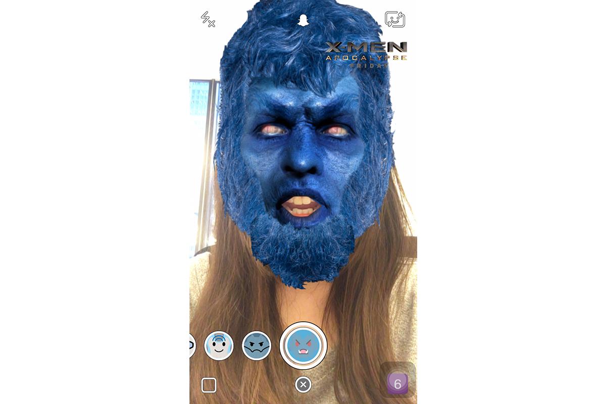 20th Century Fox/Snapchat X-Men Lenses