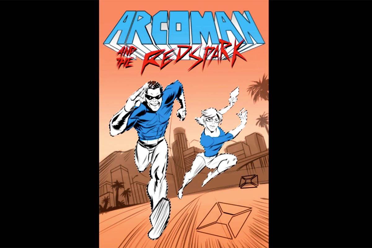 Arco Arcoman Comic Cover Time-Lapse