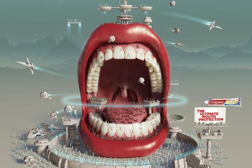 Colgate Total Intergalactic Mouth