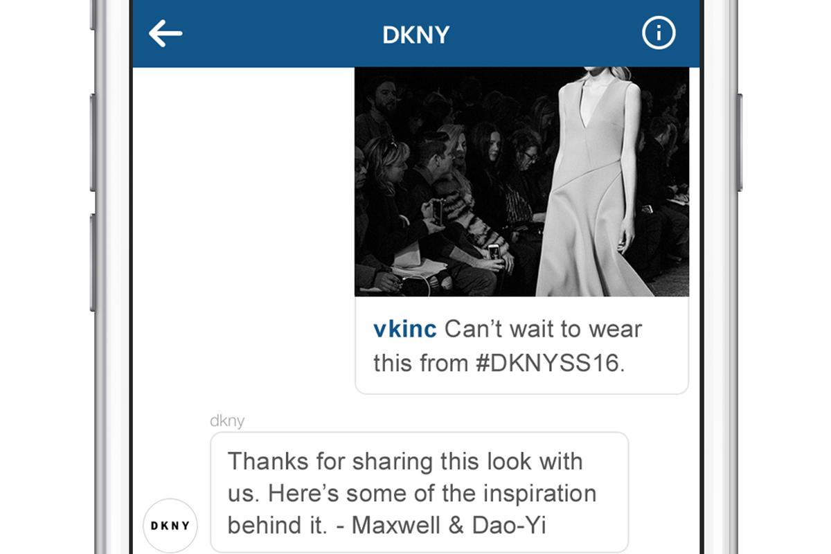 DKNY NY Fashion Week Instagram Direct Campaign