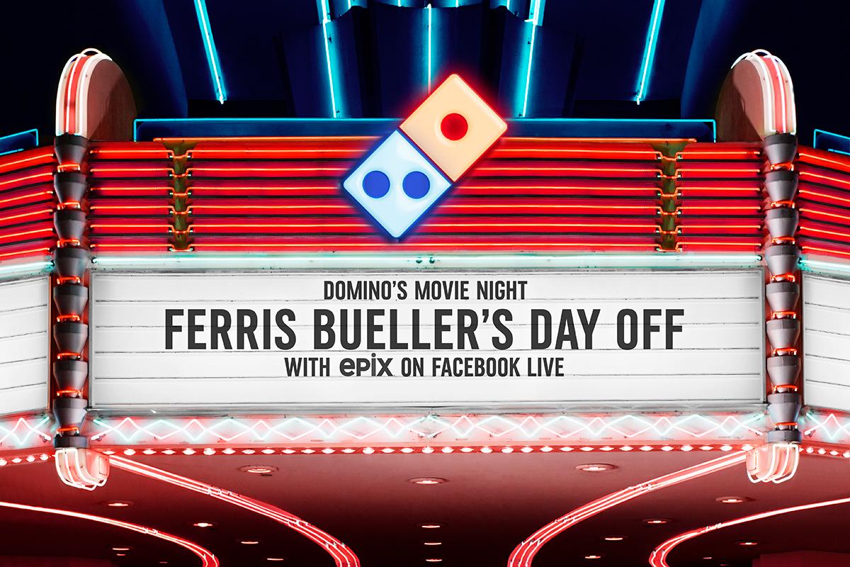 Domino's Ferris Bueller on Facebook Live