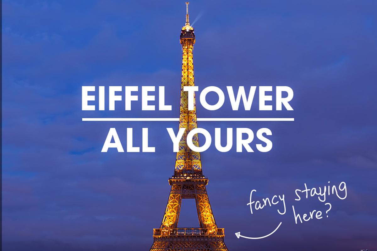 HomeAway #EiffelTowerAllYours