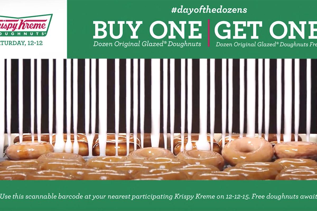 Krispy Kreme Video Barcode Coupon