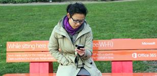 Microsoft Wi-Fi Park Benches