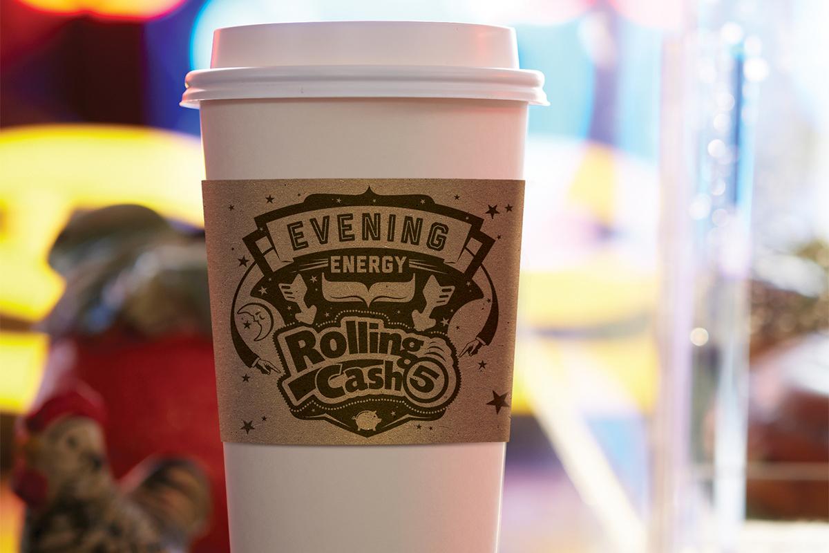 Ohio Lottery Commission Morning Energy Vs. Evening Energy Coffee Sleeve