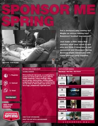 Okanagan Spring Brewery Sponsor Me Spring