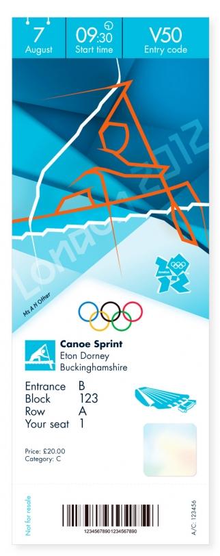 Olympics 2012 Ticket Designs - Canoe Sprint
