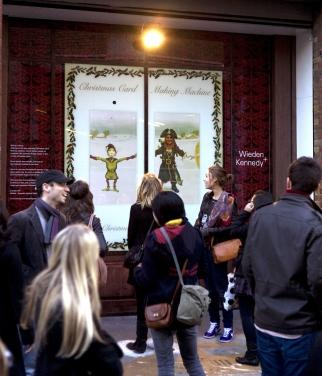 Wieden + Kennedy Christmas Window impromptu