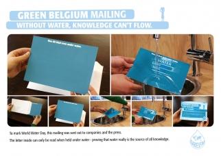 Green Belgium World Water Day Letter