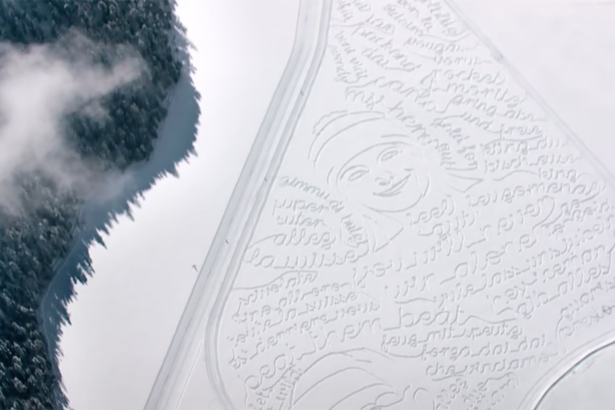 Swisscom Snow Drawings