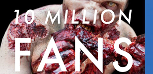 The Walking Dead 10 Million Facebook Fans Poster