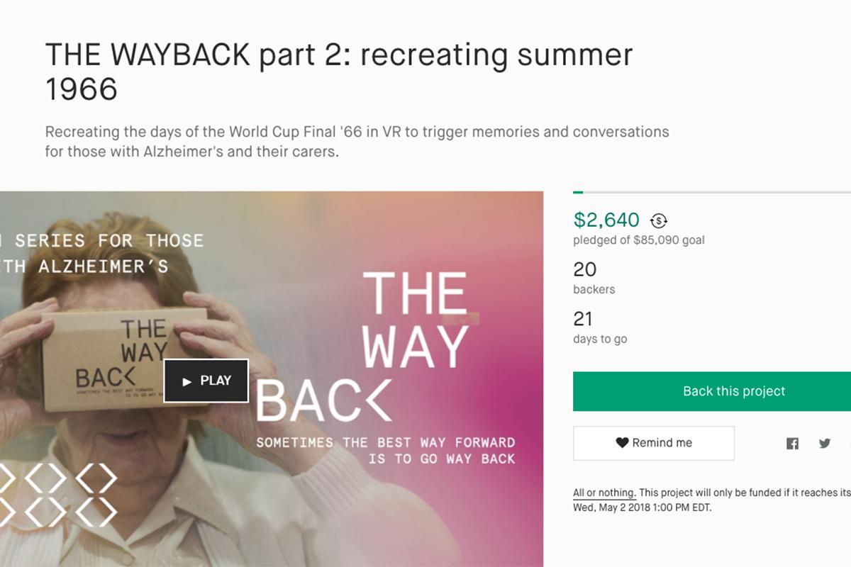 The Wayback 1966 Kickstarter