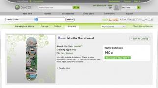 XBOX Live Marketplace Moofia Skateboard